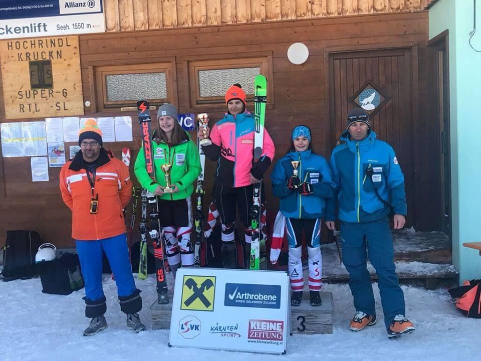 2018 Jän: Daniella Reiterer führt in der Raiffeisen Schülercup Wertung