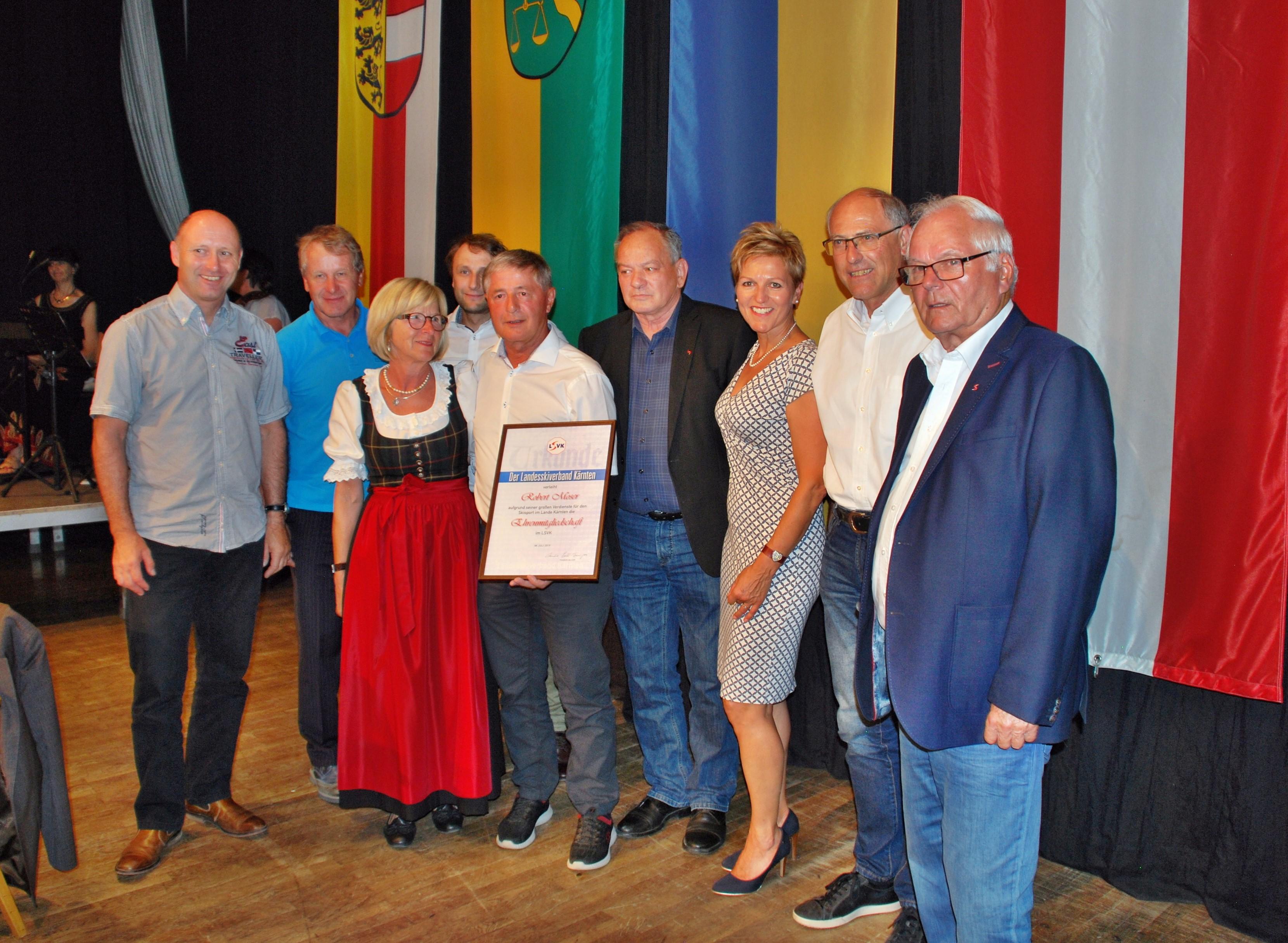 LSVK Ehrung von Robert Moser und Manfred Kerschbaumer
